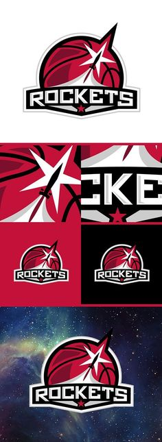 Houston Rockets Conceptual Logos on Behance #rockets #basketball #nba (Link). Looking for Team of Brand Creation Experts? Contact Haeck Design Today!!