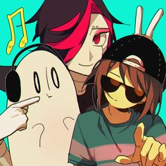 Undertale Mettaton Napstablook and Frisk Credits to the artist
