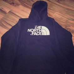 North Face hoodie MENS- The North Face hoodie! Perfect condition! No rips or stains. I would say this is a X-large for women's The North Face Tops Sweatshirts & Hoodies