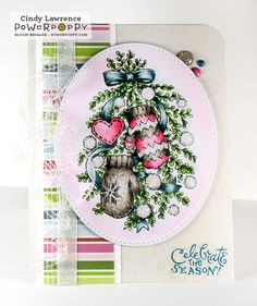 Bough-Wow-Wow stamp set by Power Poppy, card design by Cindy Lawrence!