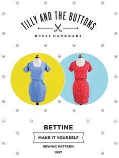 Bettine sewing pattern - easy dress sewing pattern for beginners