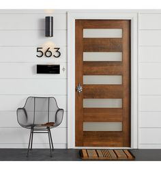 Titan Narrow Exterior Door Set Mid-Century Modern Entry Set C2755