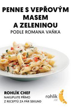 Penne s vepřovým masem a zeleninou recept Penne, Potato Salad, Potatoes, Vegetables, Ethnic Recipes, Food, Potato, Essen, Vegetable Recipes