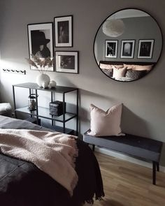70 slaapkamer ideeën (inrichting en decoratie inspiratie!) - Makeover.nl Master Bedroom Interior, Home Bedroom, Simple Bedroom Decor, Minimalist Room, Aesthetic Room Decor, Bedroom Colors, My New Room, Beautiful Bedrooms, Home And Living