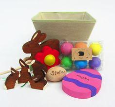 Easter Basket- Natural Wooden Waldorf Toys