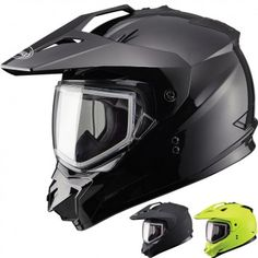 GMax GM11S Snow Sport Sled Cold Weather Protection Mens Black Snowmobile Helmets