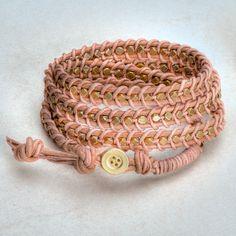 Lederarmband selbermachen - Leather bracelet tutorial by lebenslustiger,