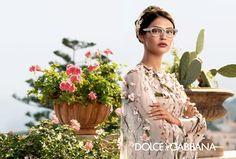 Bianca Balti Dolce Gabbana Spring Summer 2014 eyewear ad campaign