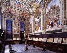 Bibliothèque Piccolomini, Sienne, Italie