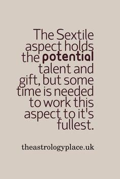 Sextile Aspect | #sextiles #chartaspects #astrology