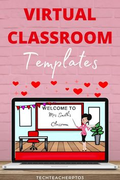 These virtual classroom templates are perfect for the early years classroom. Insert these Google slides into your morning lessons during distance learning and you'll bring the warmth of an early years classroom into your students' homes. #techteacherpto3 #virtualclassroom #distancelearning #googleslides