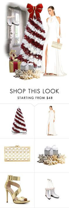 """""""Oh Christmas Tree"""" by kari-c ❤ liked on Polyvore featuring J. Mendel, Charlotte Olympia and ALDO"""