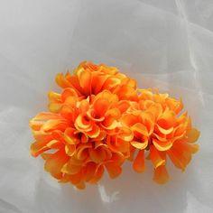 Orange Yellow Mum Silk Flower DIY Destash by beautifulswagstore, $1.25 #etsysns #handmadebot #boebot #teamsellit