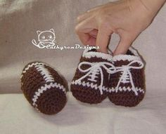 football booties....http://crocheting.myfavoritecraft.org/baby-booties-crochet-pattern-for-beginners/