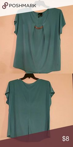 Tunic Turquoise new directions Tops Tunics