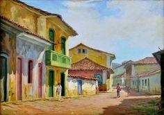 Cena urbana de Paraty, 1969 Edy Gomes Carollo (Brasil, 1921-2000) óleo sobre tela, 53 x 73 cm