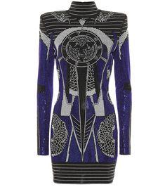 Shop Embellished minidress presented at one of the world's leading online stores for luxury fashion. Balmain Paris, Balmain Dress, Norma Kamali, Rock Chic, Versace, Saint Laurent, Balmain Clothing, Glamour, Luxury Fashion