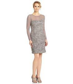 e8a4ee8a18c8 Jessica Howard Soutache Lace Sheath Dress