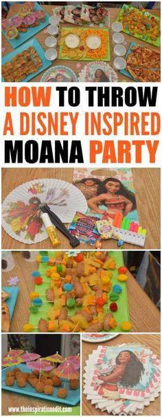 How To Throw A Disney Moana Party