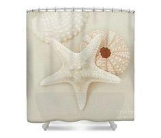 Sea Life Shower Curtain Nautical Bathroom Starfish by LucidMood