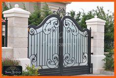Marmaris, Iron Garden Gates, Boundary Walls, Wrought Iron Doors, Villa, Front Entrances, Entrance Gates, Gate Design, Living Room Designs