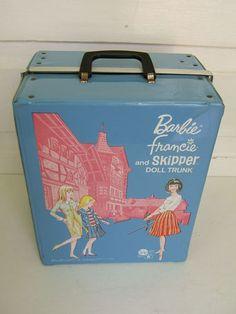 Vintage Barbie Francie and Skipper 1965 Doll Trunk | eBay
