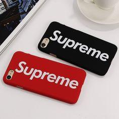 Brand Supreme PC Case For iPhone 7 Plus Cover Case Hard Plastic Luxury Phone Cases For iPhone 6 6S Plus Capa Black Red Fundas #iphone6cases, #iphone7pluscase #iphone6splus,
