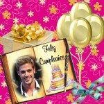 Marco para foto de Feliz Cumpleaños con globos