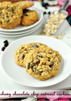 Chewy Chocolate Chip Oatmeal Cookies – A must-try dessert recipe to kick off your week! Easy enough to make even on your busiest weekdays.