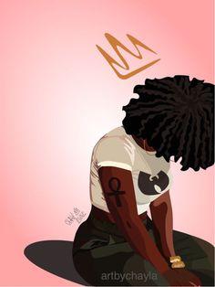 """Black Art Hub — New series entitled, """"Pink"""" Prints will be. Black Love Art, Black Girl Art, Art Girl, Black Girls, Black Women, African American Art, African Art, African Crown, Art Anime Fille"""