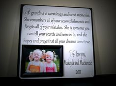 Custom Grandma Picture Frame Mother Mom by YourPictureStory, $65.00