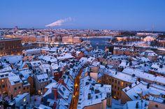 Estocolmo visto desde Södermalm. Sweden. Stockholm