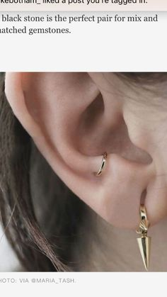 #areas #Ear #piercing #piercing unique #Wondering Wondering where to get your next ear piercing? These are all the areas to know love unique piercings Unique Body Piercings, Different Ear Piercings, Types Of Ear Piercings, Cute Ear Piercings, Mouth Piercings, Daith Piercing, Tattoo Und Piercing, Ear Peircings, Double Lobe Piercing