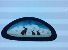Fensterschmuck - Transparentfensterbild Hasenfamilie klein - ein Designerstück von mikamaus bei DaWanda