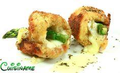 Recetas de Pollo relleno de queso y espárragos. Recetas Originales.