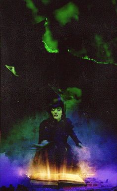 What is this chanting? I don't even know what trick I ought to try. Fiyero where are you? Already dead or bleeding one more disaster I can add to my generous supply! Broadway Wicked, Wicked Musical, Broadway Theatre, Wicked Witch, Broadway Shows, Theatre Nerds, Music Theater, Elphaba And Glinda, The Witches Of Oz
