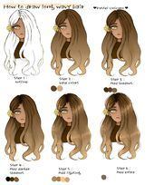 How To Draw Wavy Hair Pastel Unicorn Illustrations Art Street By Medibang Art Bigwavyhair In 2020 Drawing Hair Tutorial Unicorn Illustration How To Draw Hair