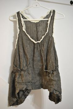 Ruffly linen tank by mljcreates on Etsy, $68.00