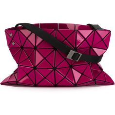 Bao Bao Issey Miyake Prism Cross Body Bag (1.455 RON) ❤ liked on Polyvore featuring bags, handbags, shoulder bags, crossbody purse, purple crossbody, purple handbags, purple shoulder bag and purple crossbody purse