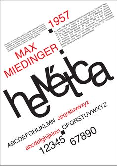 Helvetica promotional poster