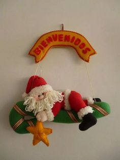 mold d noel dormilón Diy Christmas Angel Ornaments, Christmas Elf Doll, Felt Christmas Decorations, Felt Ornaments, Christmas Angels, Handmade Decorations, Kids Christmas, Christmas Stockings, Holiday Decor