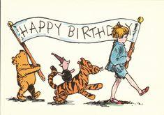 Gerelateerde afbeelding Happy Birthday Frau, Happy Birthday Images, Happy Birthday Greetings, Birthday Messages, Birthday Pictures, Happy Birthday Banners, Birthday Quotes, Winne The Pooh, Winnie The Pooh Birthday