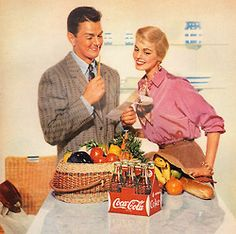 Almost everyone appreciates the best… detail from 1955 Coca Cola ad.