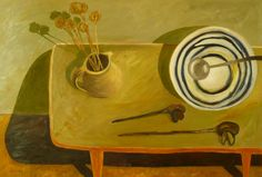 Jan Allan. Still life with banksia cone. 2009
