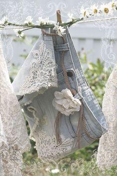 lace ,denim.... use this idea on a denim jacket