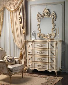 Louis XVI white and gold classic bedroom | Vimercati Classic Furniture Handmade Furniture - http://amzn.to/2iwpdj4