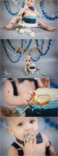 burlap and denim cake smash - 1st birthday celebration theme - 1st birthday party idea - blue and burlap