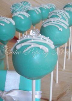 Tiffany blue cake pops. @Jodi Mason make me these!!!! Please