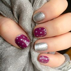 """icy boysenberry polka"" found @ http://taraslovelyjams.jamberrynails.net/product/ice-boysenberry-polka#.VL1jdGTF_9s"