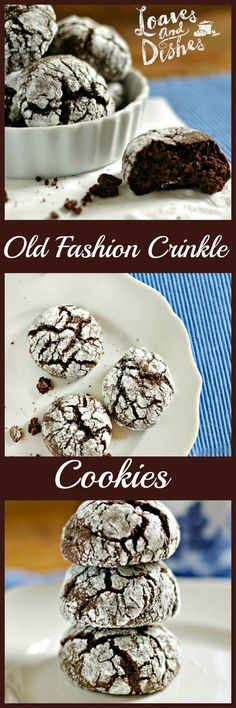 Need a simple tasty chocolaty cookie to share with a friend? Try these Old Fashion Chocolate Crinkle Cookies Today! Complete instructions @ loavesanddishes.net